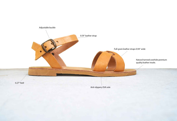 Erato sandals features