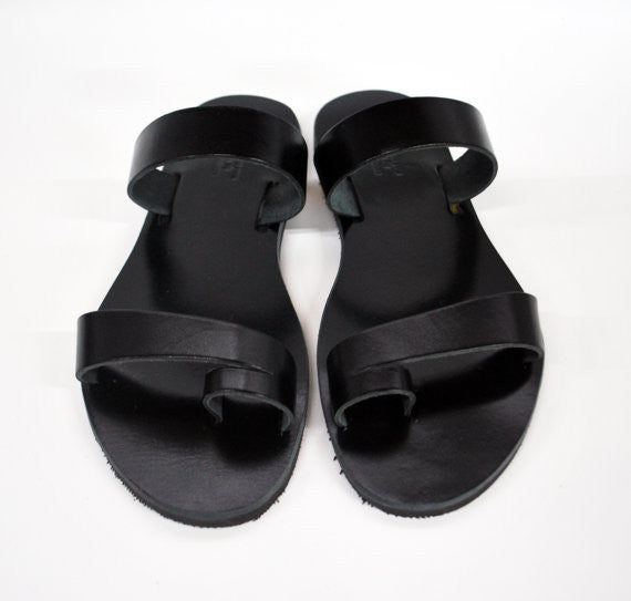 Men summer sandals in black