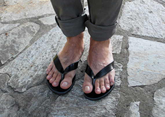 Greek men flip flop sandals