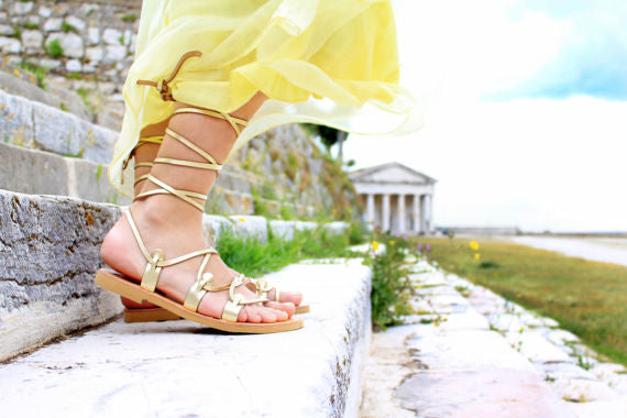 Gladiator sandals made in Greece