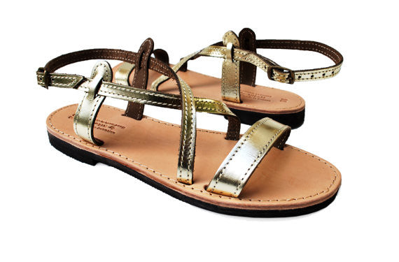Iphigenia summer sandals in gold