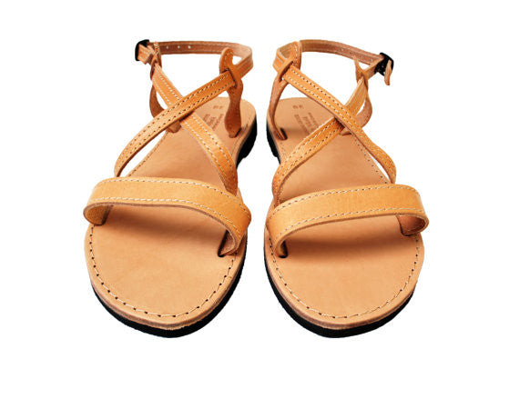 Iphigenia summer sandals in natural brown