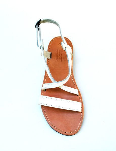 Iphigenia summer sandals in white