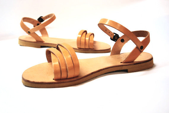 Lydia ankle strap sandals side view