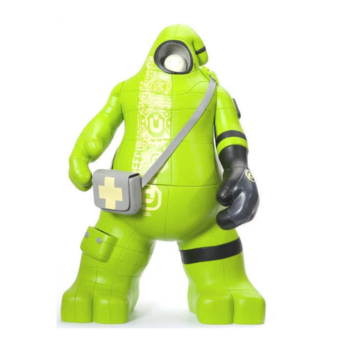 "DEFCON x UNKL Green SUG 12"" Vinyl Figure (2007) New"