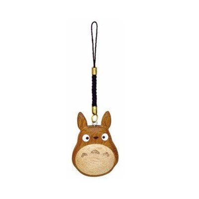 Wooden Medium Chu Totoro Wood Charm Strap Keychain by STUDIO GHIBLI My Neighbor