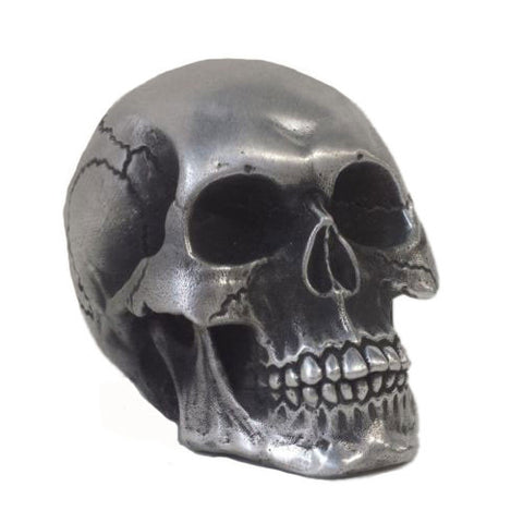 Neighborhood Silver Crypt Skull Paper Weight