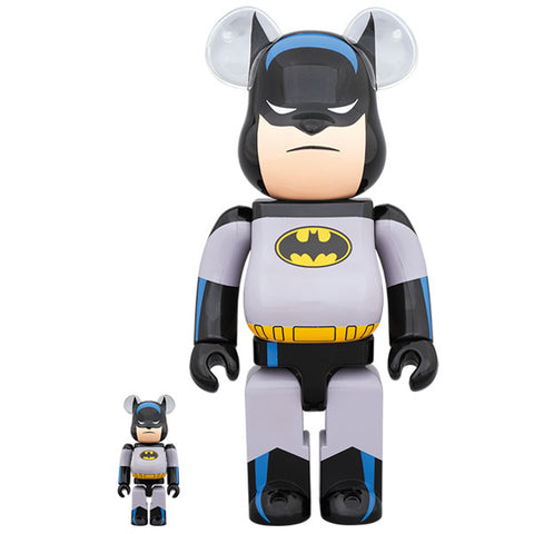 Batman Animated 100% + 400% Bearbrick Set