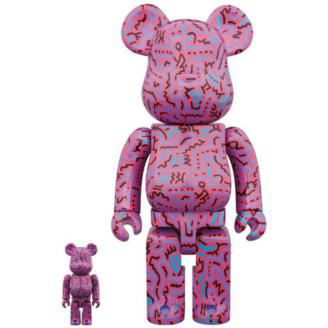 Keith Haring Ver.2 100% + 400% Bearbrick Set