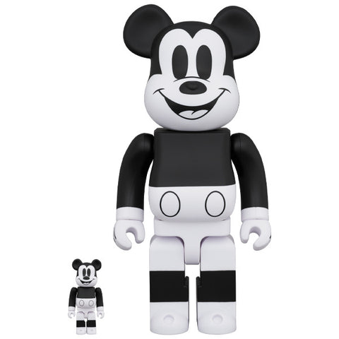Mickey Mouse Black & White 2020 Version 100% + 400% Bearbrick Set (PRE-ORDER)