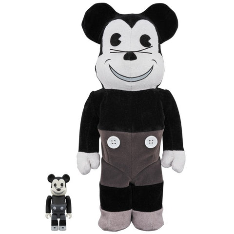 Mickey Mouse Vintage Ver. Black & White 100% + 400% Bearbrick Set