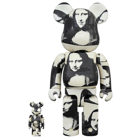Andy Warhol Double Mona Lisa 100% + 400% Bearbrick Set (PRE-ORDER)