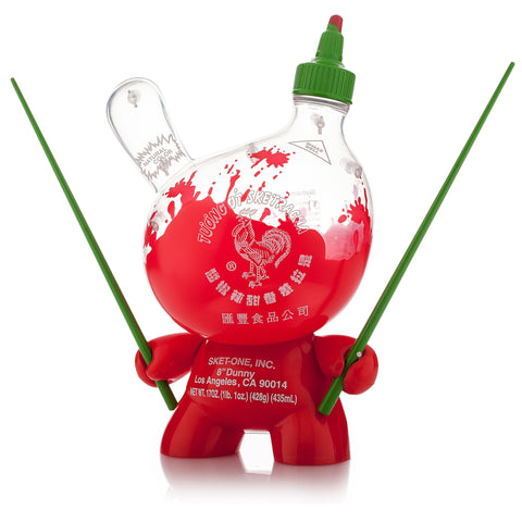 "Sketracha 8"" Dunny Clear by Kidrobot x Sket One"