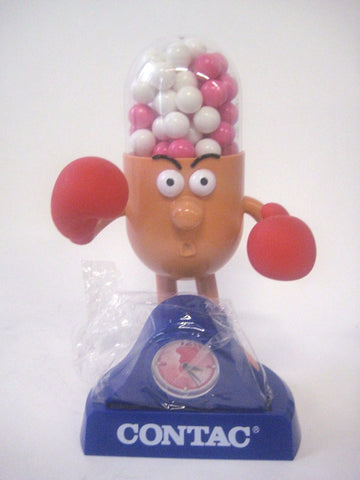 "Mr Contac Boxing 12"" Figure Advertising Drug Mascot"