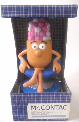 Mr Contac on Chair Talking SFX Figure Advertising Drug Mascot