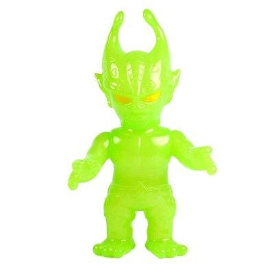 Real x Head Neon Green Mutant Evil Vinyl Figure RxH realxhead sofubi kaiju NEW