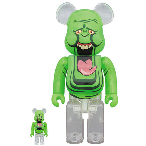 Ghostbusters: Slimer Green Ghost 100% + 400% Bearbrick Set (PRE-ORDER)