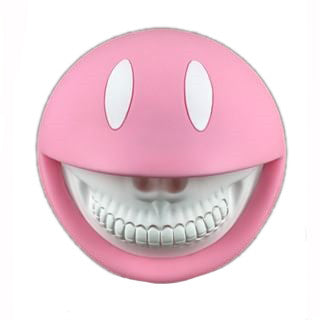 Baby Pink Smiley Grin Vinyl Coin Bank by Ron English