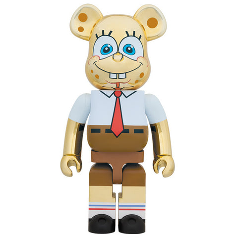 Spongebob Gold Chrome 1000% Bearbrick (PRE-ORDER)
