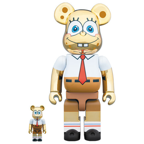 Spongebob Gold Chrome 100% + 400% Bearbrick Set (PRE-ORDER)