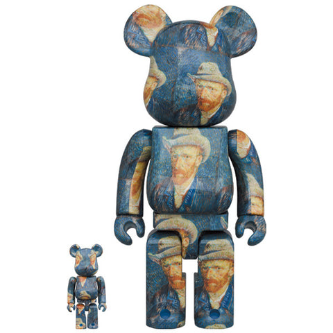 Van Gogh Museum Self Portrait 100% + 400% Bearbrick Set (PRE-ORDER)
