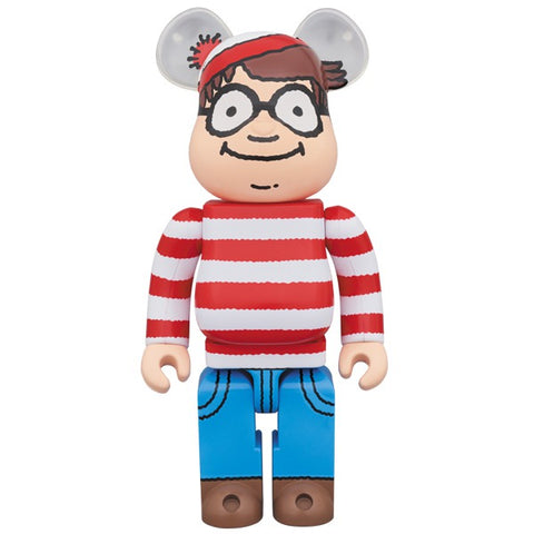 Where's Waldo Wally? 400% Bearbrick
