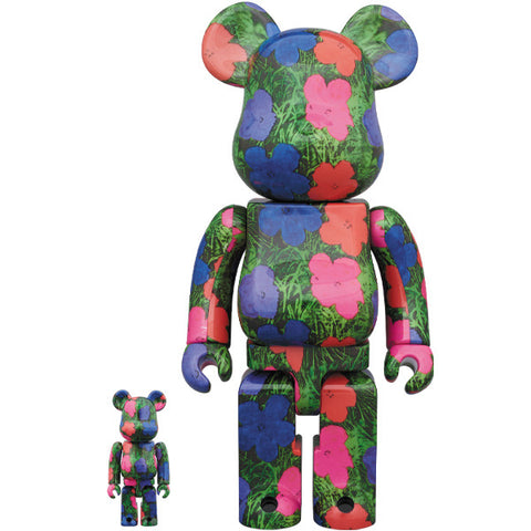 Andy Warhol Flowers 100% + 400% Bearbrick Set (PRE-ORDER)