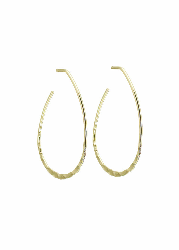 MERX - HAMMERED DETAIL HOOP EARRING