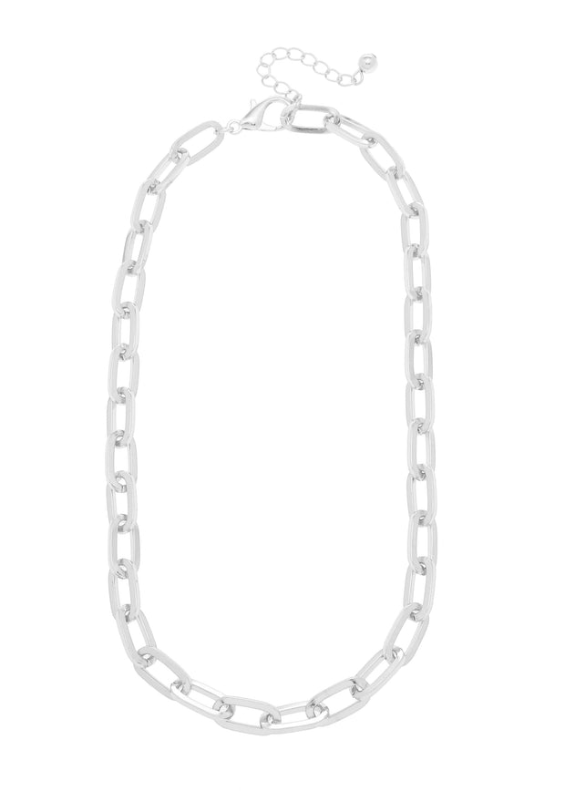 ROLO CHAIN CHOKER NECKLACE