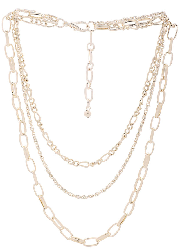 TRIPLE STRAND CHAIN NECKLACE