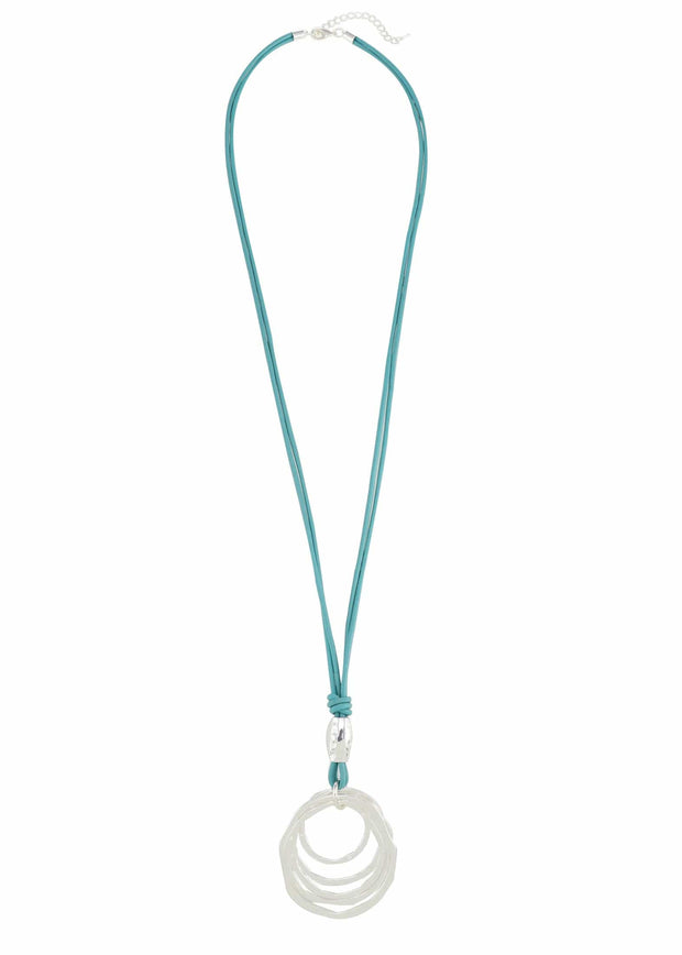 RING NECKLACE - TURQUOISE