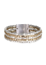 MERX - METALLIC RECTANGLE BEAD BRACELET