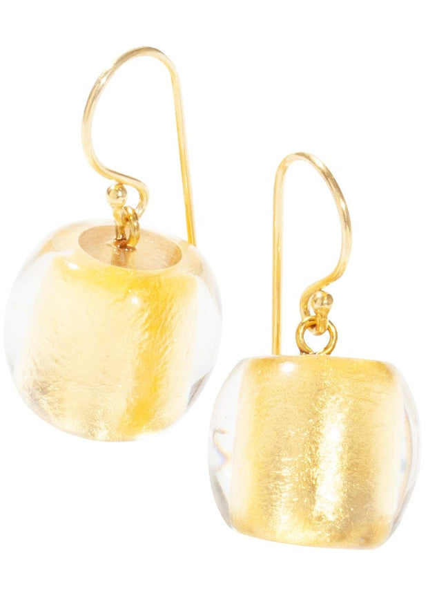 ZSISKA - PRECIOUS FOIL DANGLE EARRINGS - GOLD
