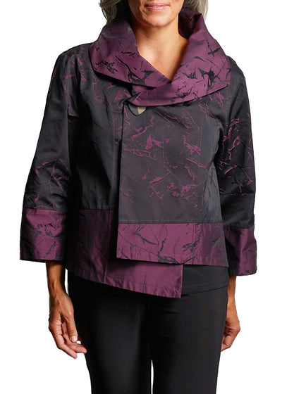 JACQUARD LIV JACKET - ETCHED MULBERRY