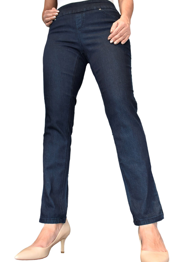 UP - PULL ON SKINNY DENIM PANT FULL LENGTH