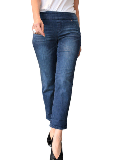 CROP DENIM-SHORTER LEG - UP