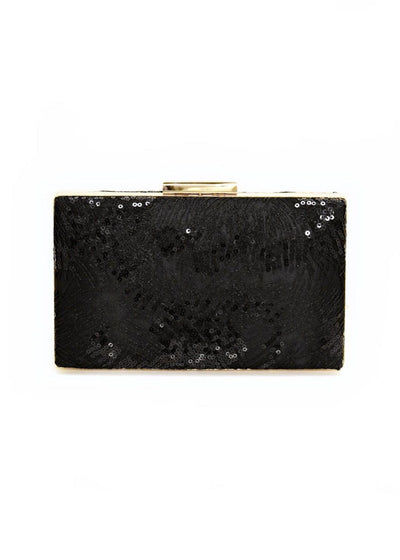 SONDRA ROBERTS - SATIN CLUTCH WITH SEQUINS