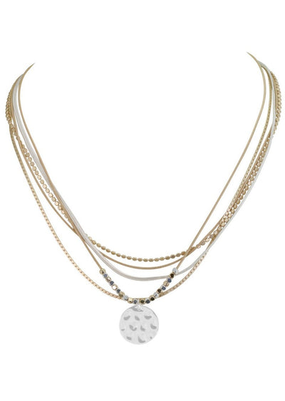 MULTI STRAND SHORT COIN NECKLACE