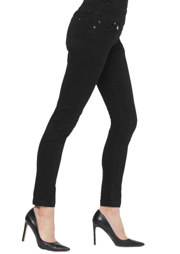 LISETTE L - SYLVIA DENIM SLIM JEAN - BLACK DENIM