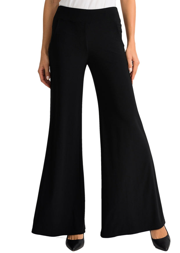 JOSEPH RIBKOFF - WIDE LEG WITH POCKET PANT - BLACK