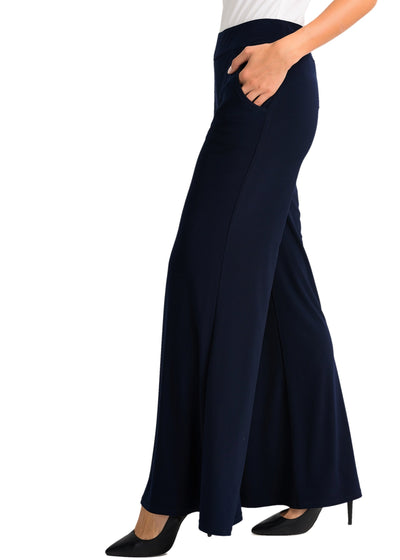 JOSEPH RIBKOFF - WIDE LEG WITH POCKET PANT - MIDNIGHT BLUE