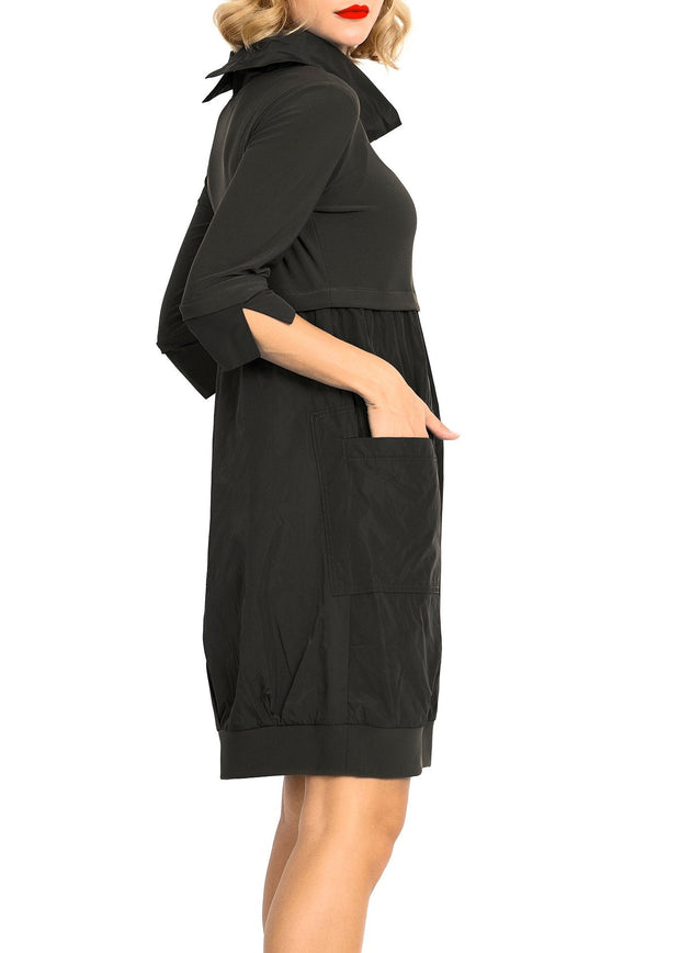 JOSEPH RIBKOFF - MIRACLE DRESS -BLACK - 173444
