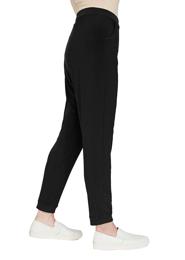 JERSEY MOTION TRIM JOGGER - BLACK