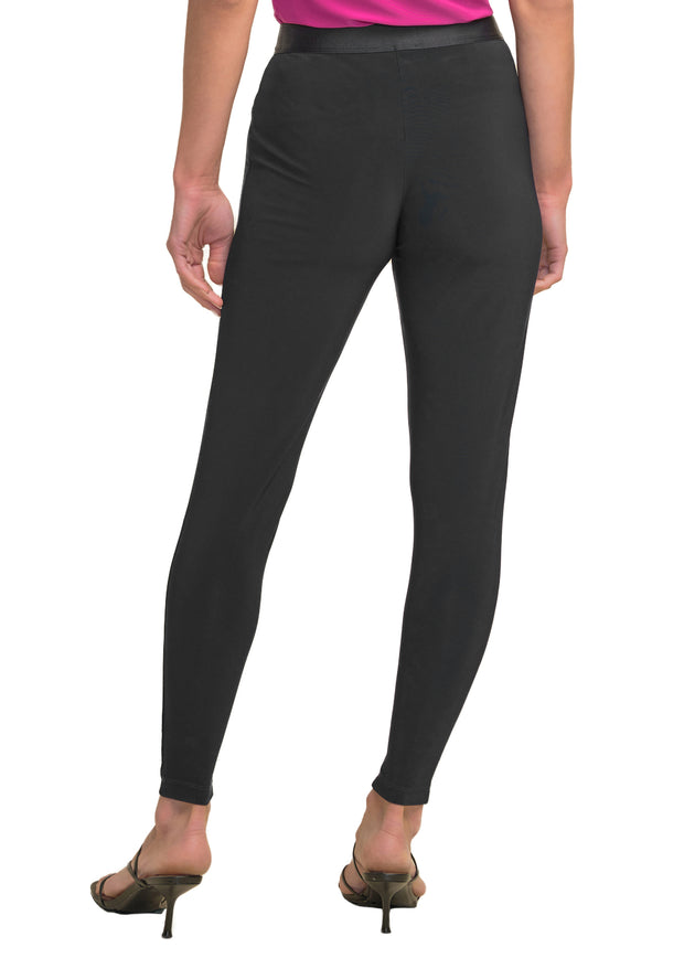 JOSEPH RIBKOFF - BLACK LEGGING WITH SATIN BAND
