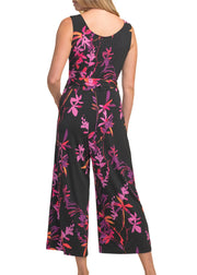FLORAL V-NECK JUMPSUIT