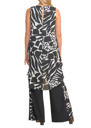 JUMPSUIT WITH ANIMAL PRINT TOPPER