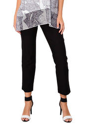 PULL ON TUMMY CONTROL ZIP POCKETS ANKLE PANT