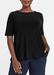 SYMPLI - JERSEY TRAPEZE SHORT SLEEVE TOP
