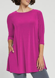 SYMPLI - TRAPEZE TUNIC 3/4 SLEEVE TOP