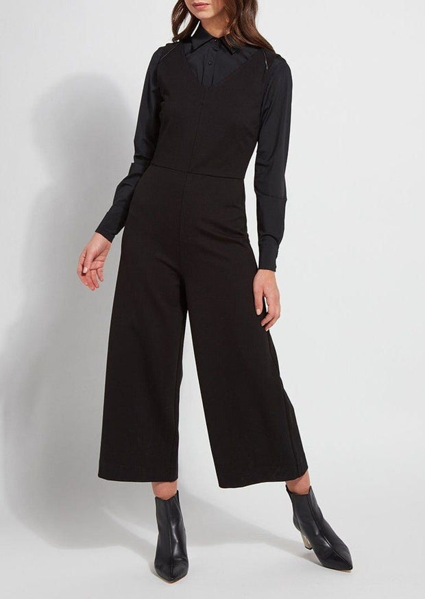 PONTE ZIPPER JUMPSUIT